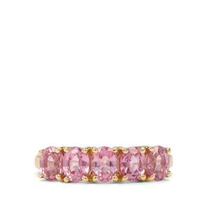 2.26ct Sakaraha Pink Sapphire 9K Gold Ring