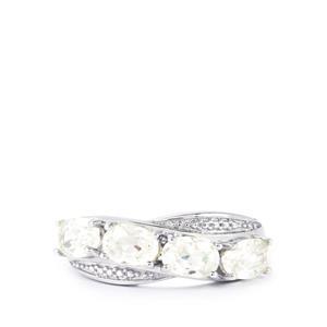 3.07ct Singida Tanzanian Zircon Sterling Silver Ring