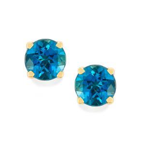 Marambaia London Blue Topaz Earrings in 14K Gold 4.74cts