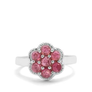 1.33ct Pink Tourmaline Sterling Silver Ring