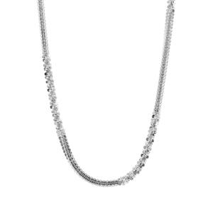 "36"" Sterling Silver Couture Criss Cross Chain 6.20g"