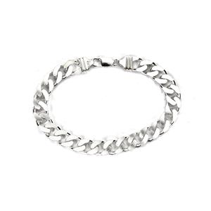 "9"" Sterling Silver Altro Curb Bracelet 37g"