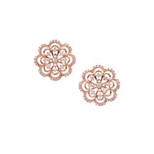 Natural Pink Diamond Earrings in 9K Rose Gold 0.78ct