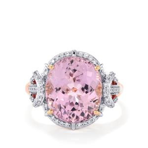 Mawi Kunzite Ring with Diamond in 18k Rose Gold 8.44cts