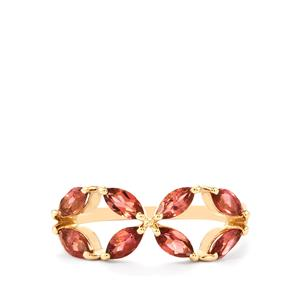 1.13ct Natural Pink Tourmaline 10K Gold Ring