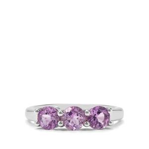 1.37ct Rose du Maroc Amethyst Sterling Silver Ring
