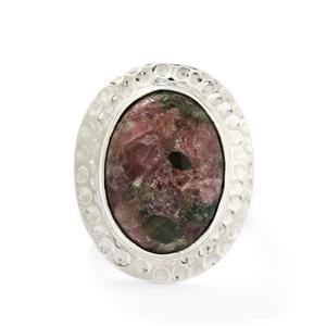 11.00ct Fusion Tourmaline Sterling Silver Aryonna Ring