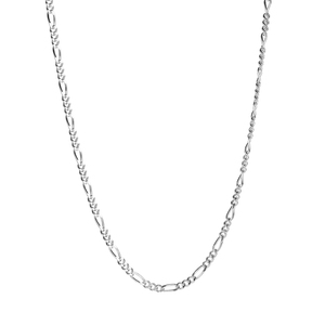 """30"""" Sterling Silver Couture Figaro Necklace 5.29g"""