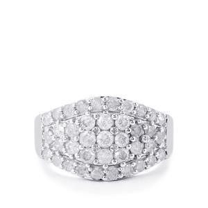 1.50ct Diamond 10K White Gold Tomas Rae Ring