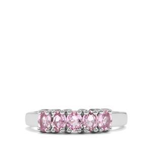 1.08ct Sakaraha Pink Sapphire Sterling Silver Ring