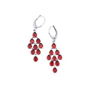 Rajasthan Garnet Earrings in Sterling Silver 6.70cts