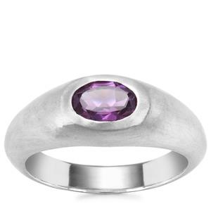 Zambian Amethyst Ring in Sterling Silver 0.75ct