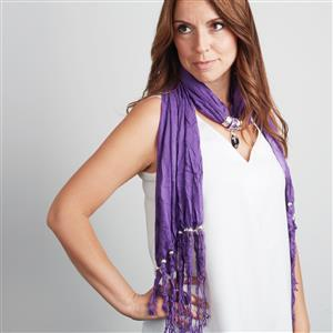 Zambian Amethyst Beaded Scarf/ Necklace ATGW 35cts