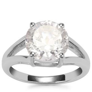 3.41ct Optic Quartz Sterling Silver Amami Cut Ring