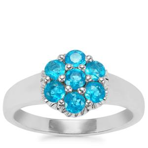 Neon Apatite Ring in Sterling Silver 0.77ct