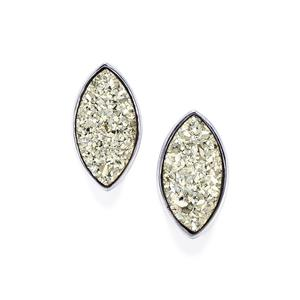 6.27ct Silver Drusy Sterling Silver Aryonna Earrings