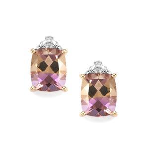 Anahi Ametrine Earrings with Diamond in 10K Gold 7cts