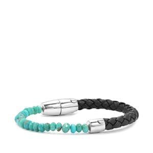 17.72ct Sleeping Beauty Turquoise Sterling Silver Bracelet