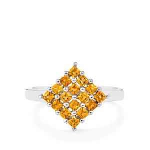 0.71ct Yellow Tourmaline Sterling Silver Ring