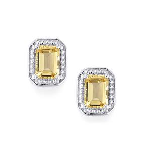 Champagne Danburite Earrings in Sterling Silver 2cts
