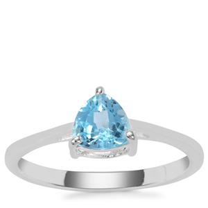 Swiss Blue Topaz Ring in Sterling Silver 0.81cts