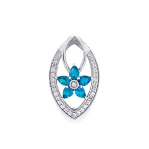 Apatite pendants blue apatite diamond pendants gemporia us neon apatite pendant with white zircon in sterling silver 116cts mozeypictures Gallery
