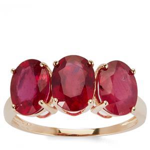 5.48ct Thai Ruby 9K Gold Ring