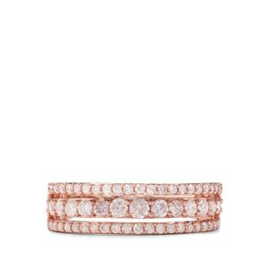 3/4ct Natural Blush Pink Diamond 9K Rose Gold Tomas Rae Ring