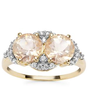 Serenite Ring with White Zircon in 9K Gold 2.66cts