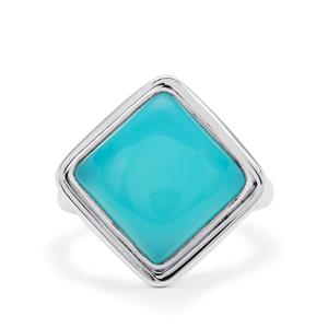 Aqua Chalcedony Ring in Sterling Silver 7cts