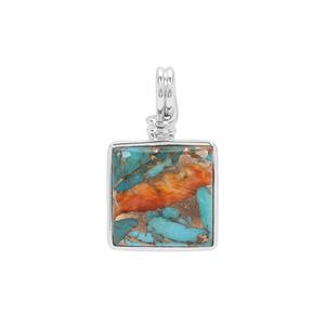 Oyster Copper Mojave Turquoise Pendant in Sterling Silver 16.50cts