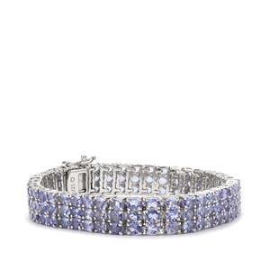 20.38ct Tanzanite Sterling Silver Bracelet
