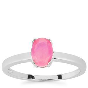Ethiopian Neon Pink Opal Ring in Sterling Silver 0.49cts