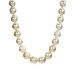 South Sea Cultured Pearl Necklace  in Sterling Silver