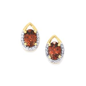 Zanzibar Zircon & Diamond 18K Gold Tomas Rae Earrings MTGW 2.43cts