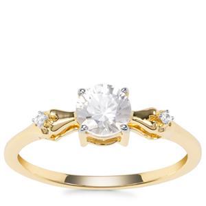 Singida Tanzanian Zircon Ring with White Zircon in 9K Gold 0.92ct