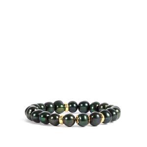 Kaori Cultured Pearl Sterling Silver Elastic Bracelet (8.50x8mm)