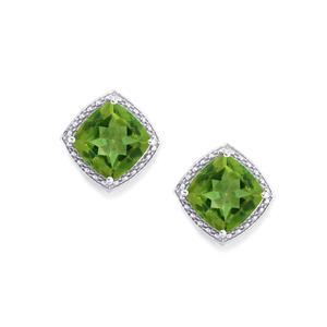 7.55ct Fern Green Quartz Sterling Silver Earrings