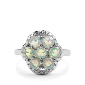 Ethiopian Opal Ring in Sterling Silver 1.14cts