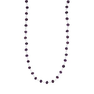 19.50ct Bahia Amethyst Sterling Silver Bead Necklace