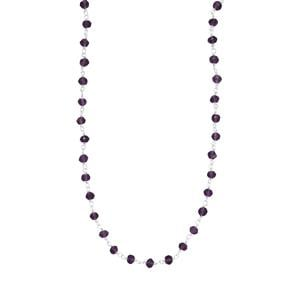 Bahia Amethyst Bead Necklace in Sterling Silver 19.50cts