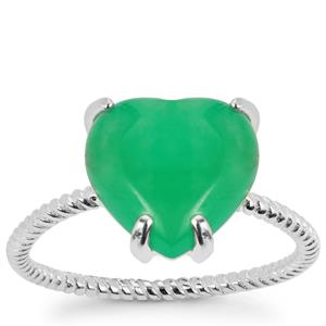 Chrysoprase Ring in Sterling Silver 2.50cts