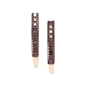 Purple Diamond Earrings in 9K Gold 0.58ct