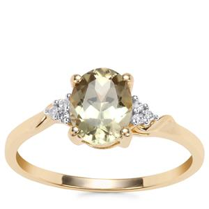 Csarite® Ring with Diamond in 10K Gold 1.34cts