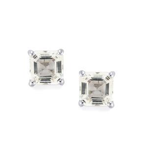 White Topaz Earrings in Sterling Silver 2.16cts