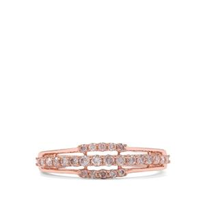 1/3ct Natural Pink Diamond 9K Rose Gold Ring