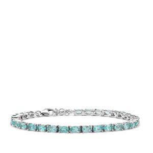Madagascan Blue Apatite Bracelet in Sterling Silver 7.73cts