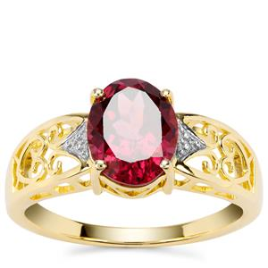 Mahenge Garnet Nora Saul Ring in Gold Plated Sterling Silver 2.34cts