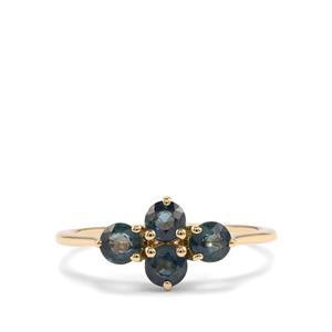 1.15ct Nigerian Blue Sapphire 9K Gold Ring