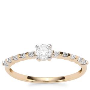 Diamond Ring in 18K Gold 0.30ct
